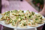 Ceviche on corn tortillas at The Field Kitchen