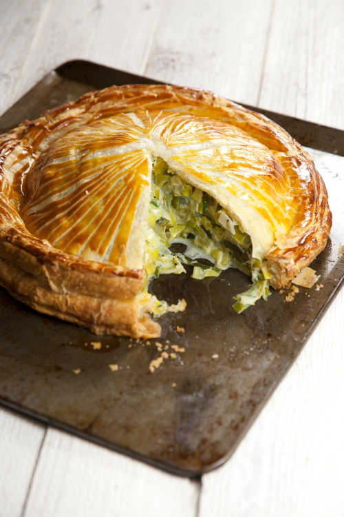leek & smoked cheese pithivier
